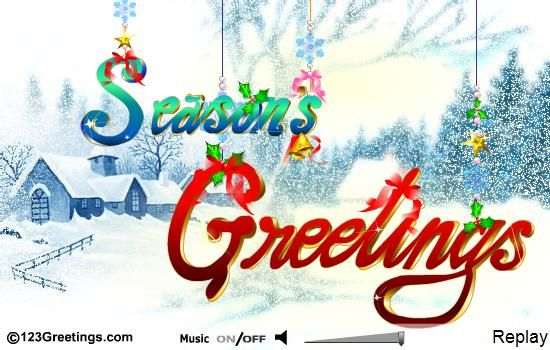 Wish your friends family neighbors business contacts with this wish your friends family neighbors business contacts with this beautiful seasons greetings ecard free online sending you seasons greetings ecards on reheart Gallery