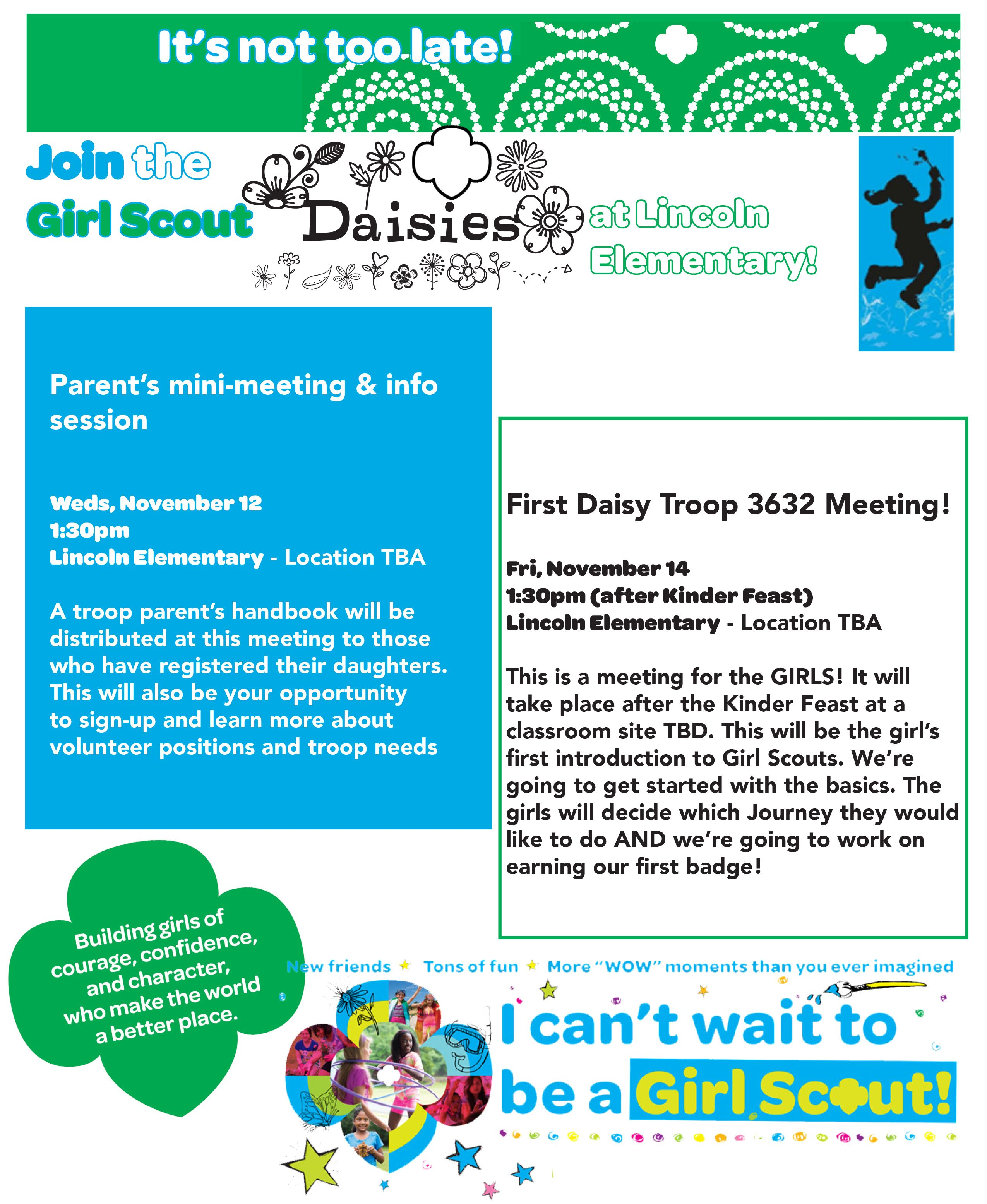 Daisy Girl Scout Recruitment Flyer Designed By Charmaine