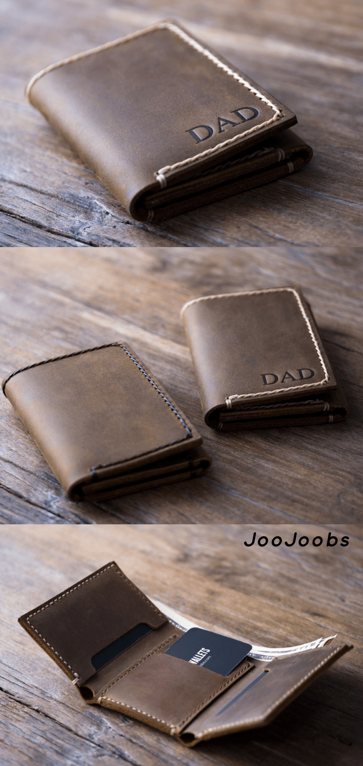 149dd52c636e Personalized Mens Leather Trifold Wallet✦Handmade Full Grain Distressed Leather  Wallet✦Leather Products✦
