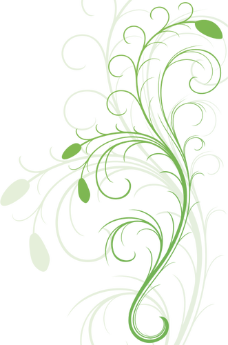 Vector graphics of swirling floral design element Public