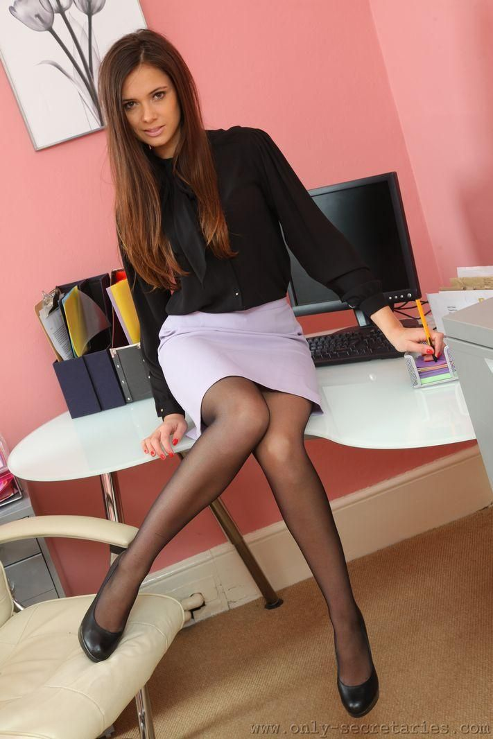 Sexy, Hot, Secretary, Sekretärin, Office, Büro, long Legs ...