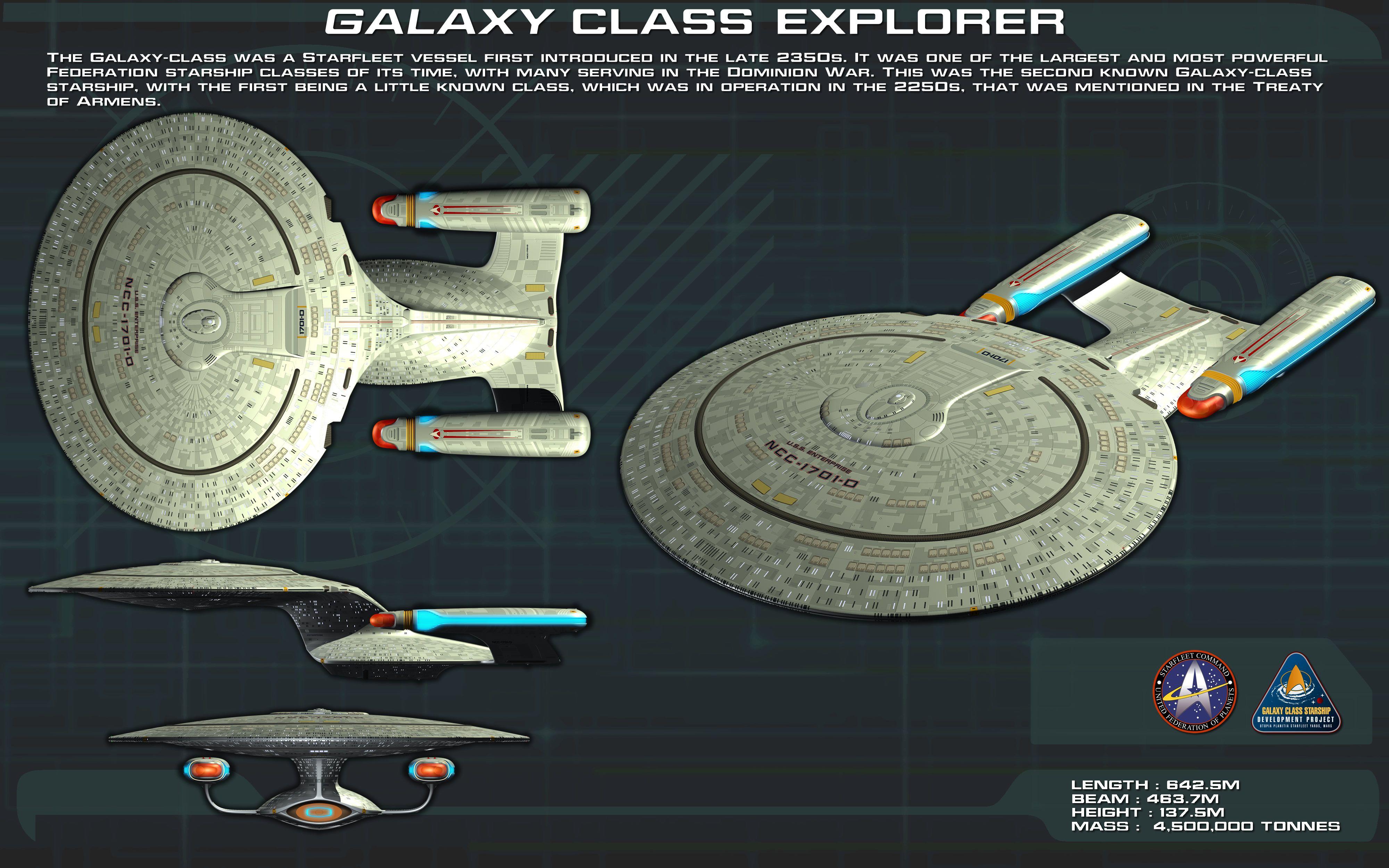 Galaxy Class ortho [new] by unusualsuspex.deviantart.com on @deviantART