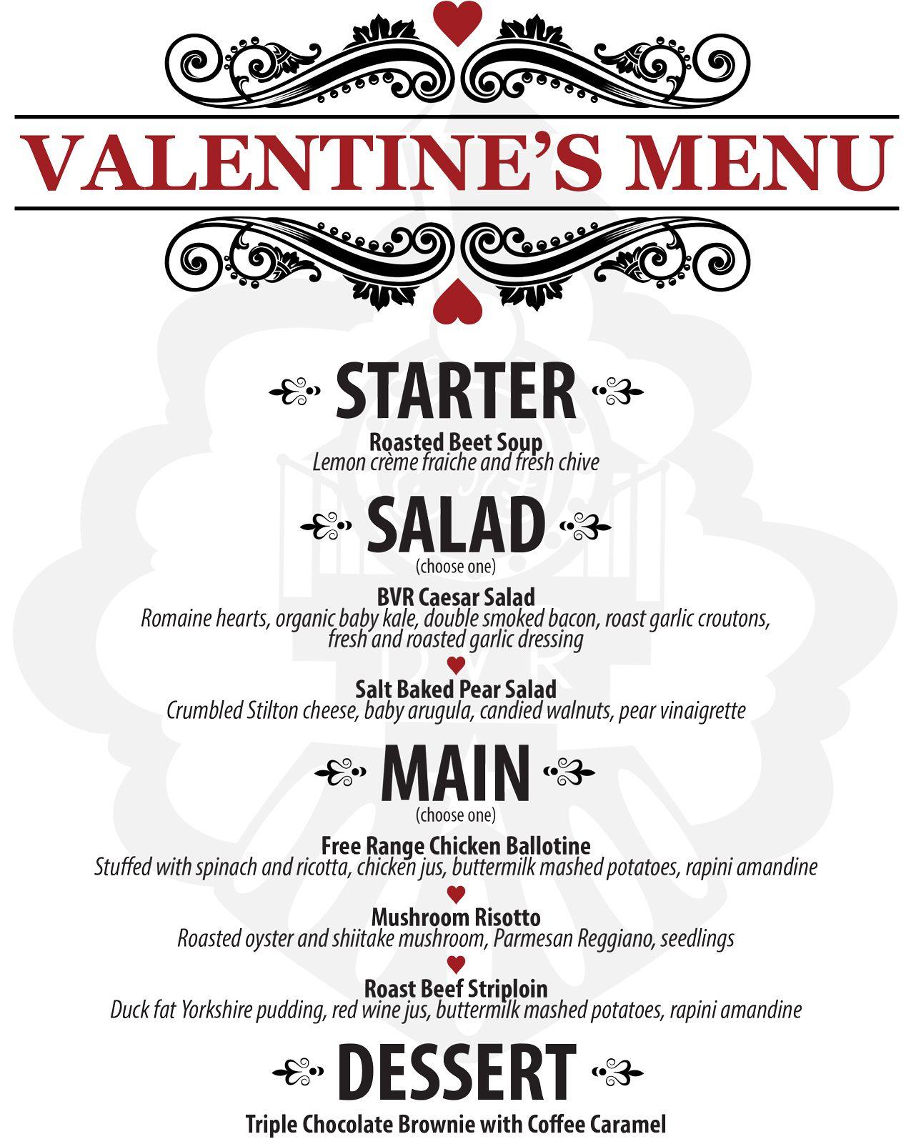 Valentine menu advertising pinterest menu for Romantic valentine dinner menu ideas