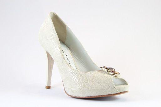 Giorgio Piergentili Italian Wedding Shoes SKU 9252 DESIGNER COLOR Beige MATERIAL