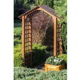 Pergola Podwojna Z Daszkiem Werth Holz Garden Arch Outdoor Structures Outdoor
