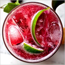 Recipes for Three-Ingredient Summer Cocktails -   Cherry Caipirissima  Ingredients 3/4 ounce simple syrup  3 cherries, pitted and halved  Half a lime, cut into quarters  2 ounces white rum.