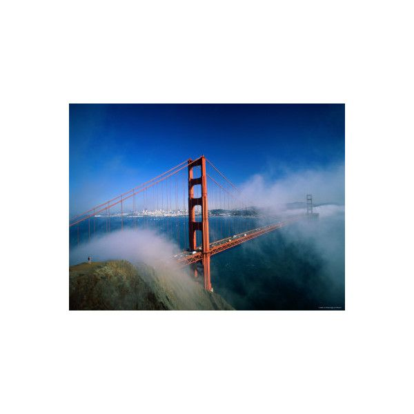 Golden Gate Bridge with Mist and Fog, San Francisco, California, USA... (€31) ❤ liked on Polyvore featuring home, home decor, wall art, golden gate bridge wall art, san francisco wall art and photography wall art