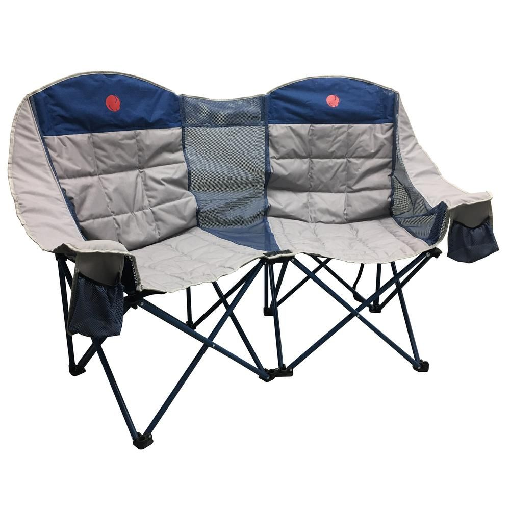 Omnicore Designs Moonphase Double Love Seat Heavy Duty Quad Folding Camp Chair Blue In 2020 Camping Chairs Folding Camping Chairs Camping Bed