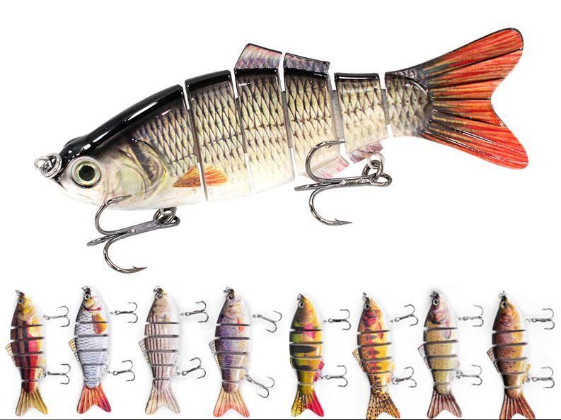 5pcs Realistic Topwater Fishing Lure VIB Fishing Lures and 5pcs Swivels Kit