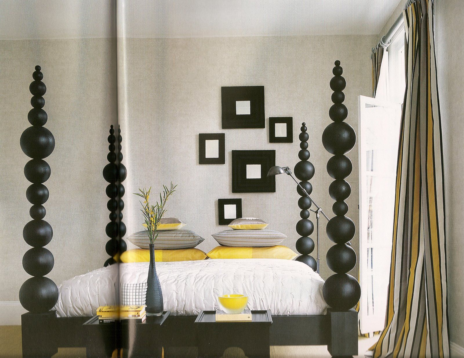 Bedroom black white interior design yellow grey and ideas 1000 images about yellow and black on david smith