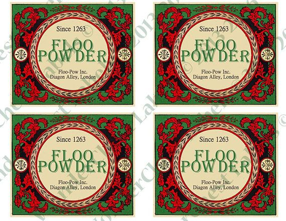 Floo Powder Labels Printable Use It For Your Harry Potter Party Or Play You Can Decorate Regula Printable Labels Harry Potter Theme Party Harry Potter Party