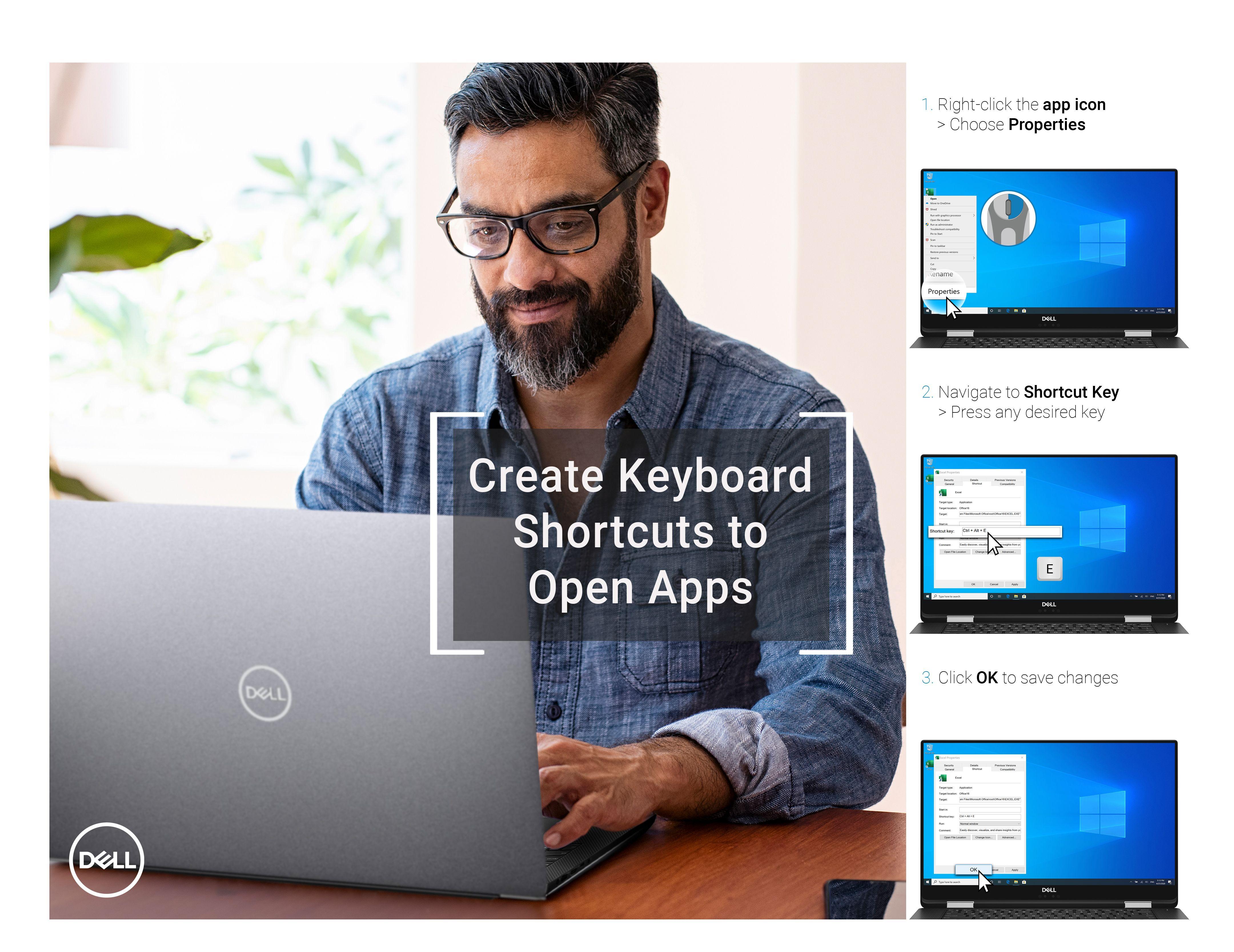 Adding keyboard shortcut to apps en 2020