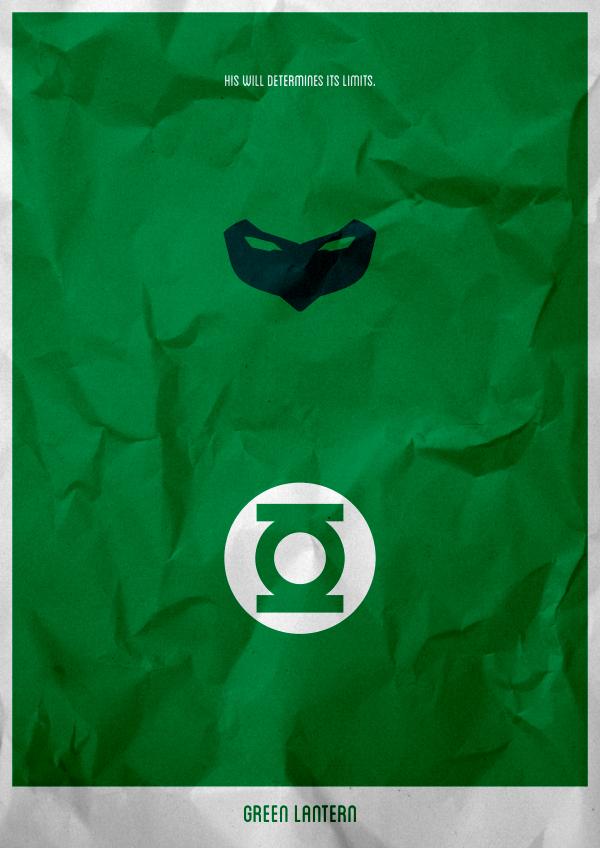 Green Lantern (2011) ~ Minimal Movie Poster by Lucas Felipe #amusementphile
