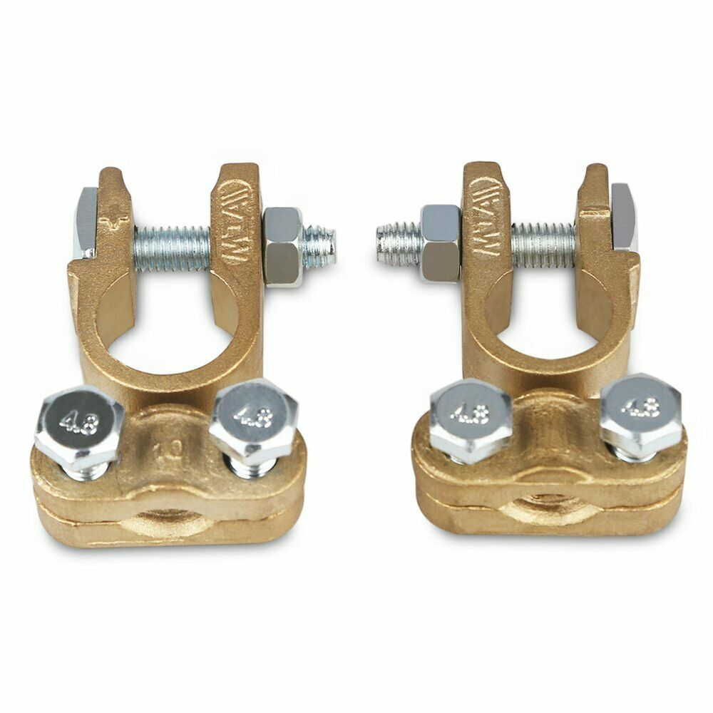 BATTERY TERMINAL CLAMP CONNECTOR SET HEAVY DUTY TOP POST