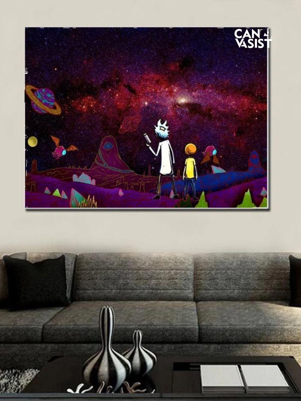Space Adventures Grandpa And Grandson Canvas Set Pop Art Canvas Canvas Set Wall Art Canvas Prints