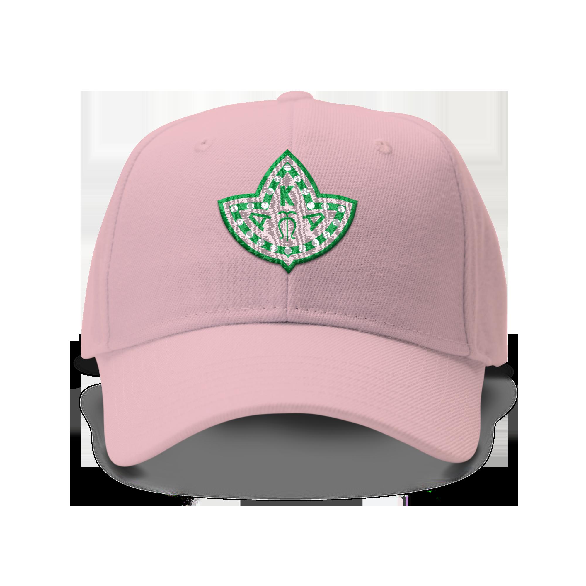 567f4d1dd4 Alpha Kappa Alpha Embroidered Ivy Leaf Dad Hat (Pink) | Aka para ...
