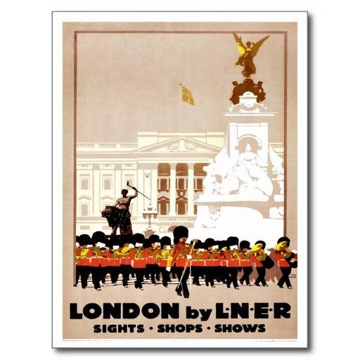 Carte Postale Voyage vintage de Londres | Travel illustration