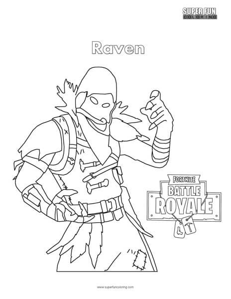 Image Result For Fortnite Coloring Pages Raven Dibujos Paginas