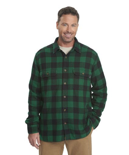 86f241742 Men's Oxbow Bend Plaid Flannel Shirt in Forest Green Buffalo by WOOLRICH®  The Original Outdoor Clothing Company