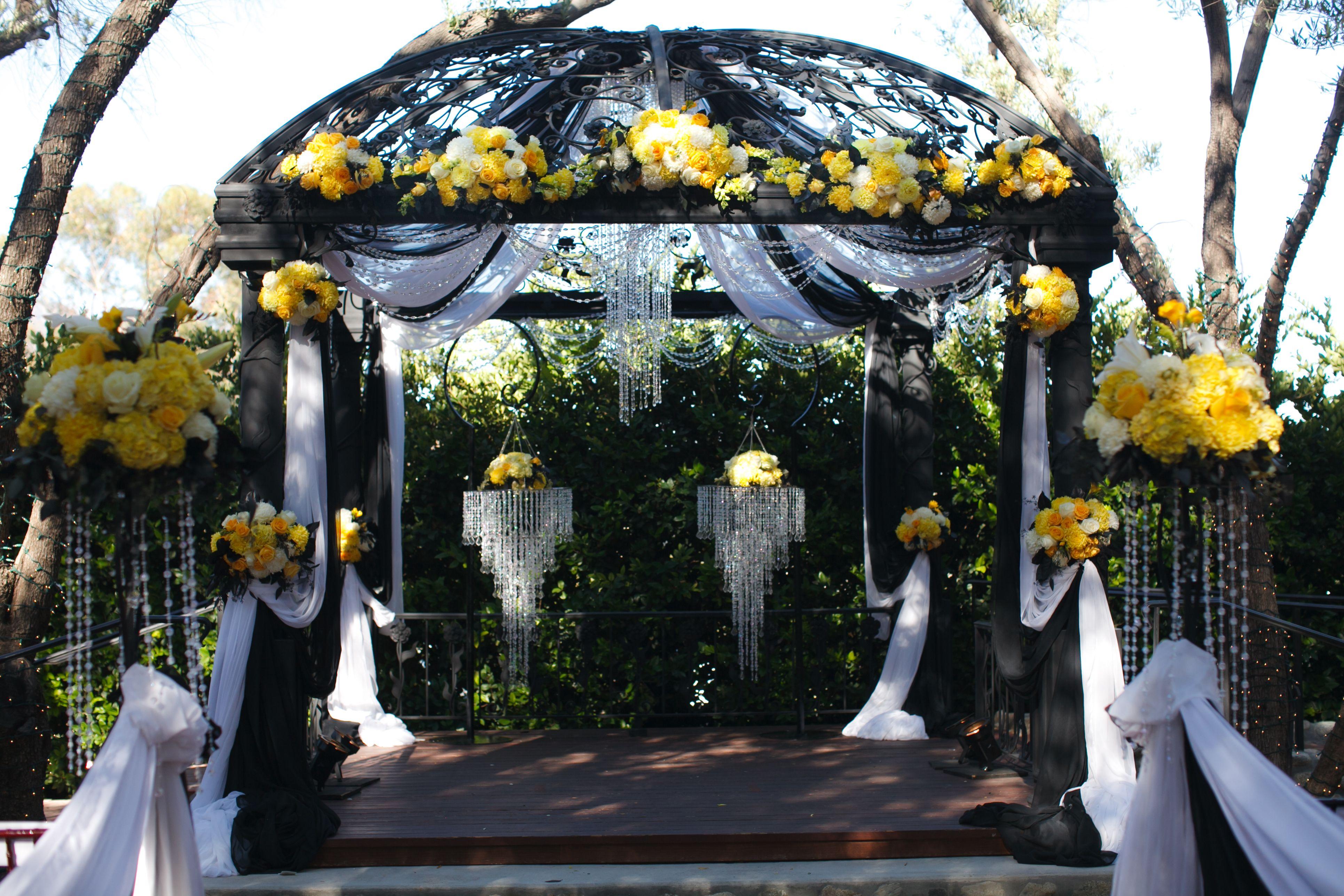 Southern California Weddings Outdoor Gazebo Ceremony at