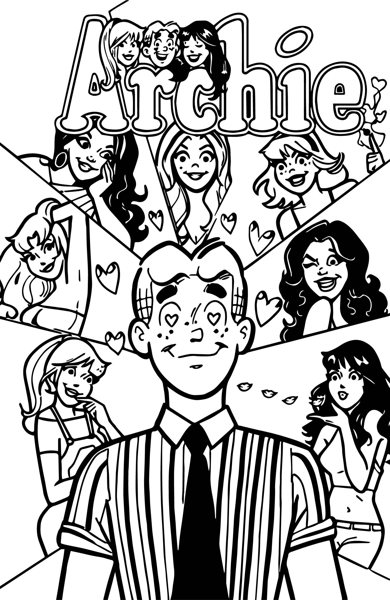 cool Archie Comics All Girls Love Coloring Page  Love coloring
