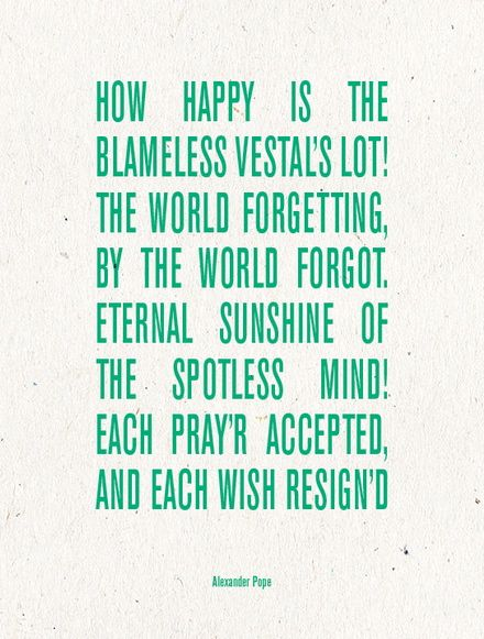 From Alexander Popes Poem Eloisa To Abelard Written About A True