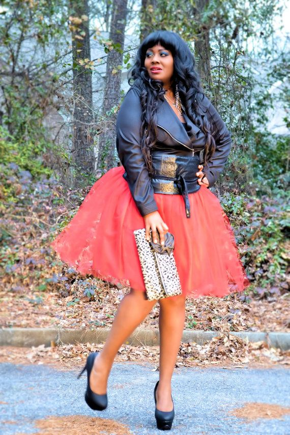 76363c0b555 Tulle Skirt Tutu Red Plus Size by SpoiledDiva on Etsy