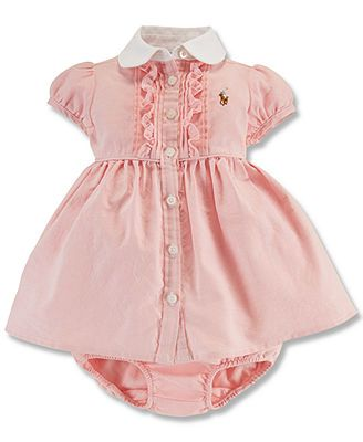 f3141d33f Polo Ralph Lauren Baby Girls' Oxford Dress | Belen in Style | Baby ...