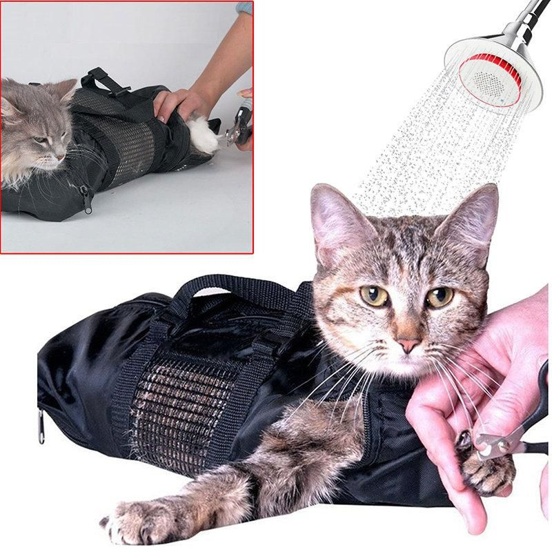 Pet Cats Bathing Nail Clipping Bag Portable Restraint Anti Scratch
