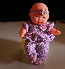 """Lilac Outfit for 5"""" Berenguer Doll"""