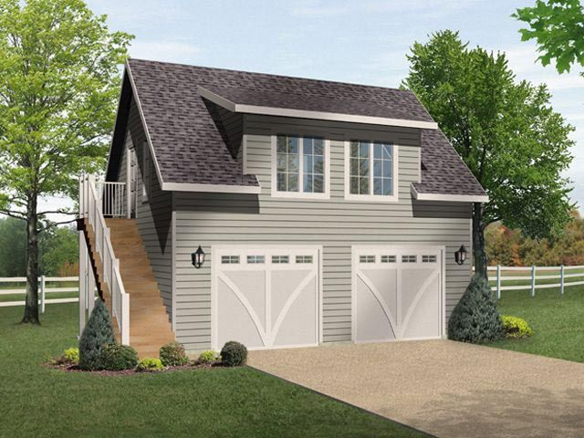 House Plan 49036 – 2 Car Garage With Living Space Above Plans
