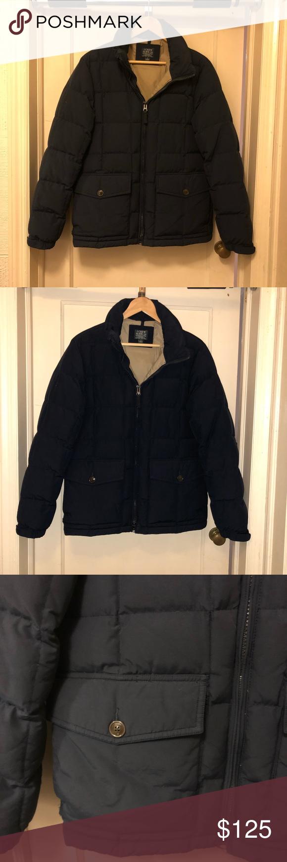 J. Crew Navy Winter Coat Great condition J. Crew Jackets