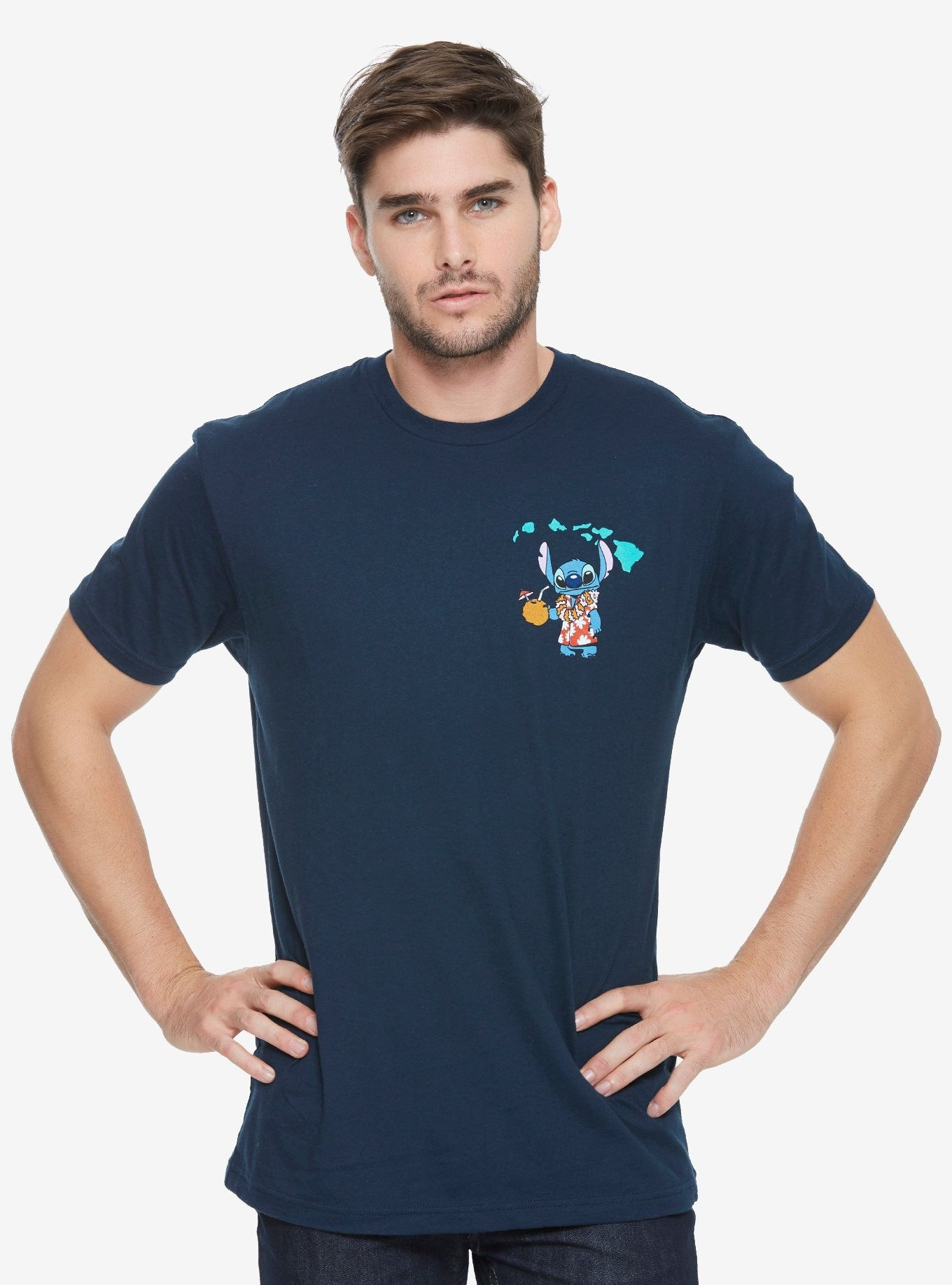 official photos a3efd 22fe0 Disney Lilo   Stitch License Plate T-Shirt - BoxLunch Exclusive, BLUE