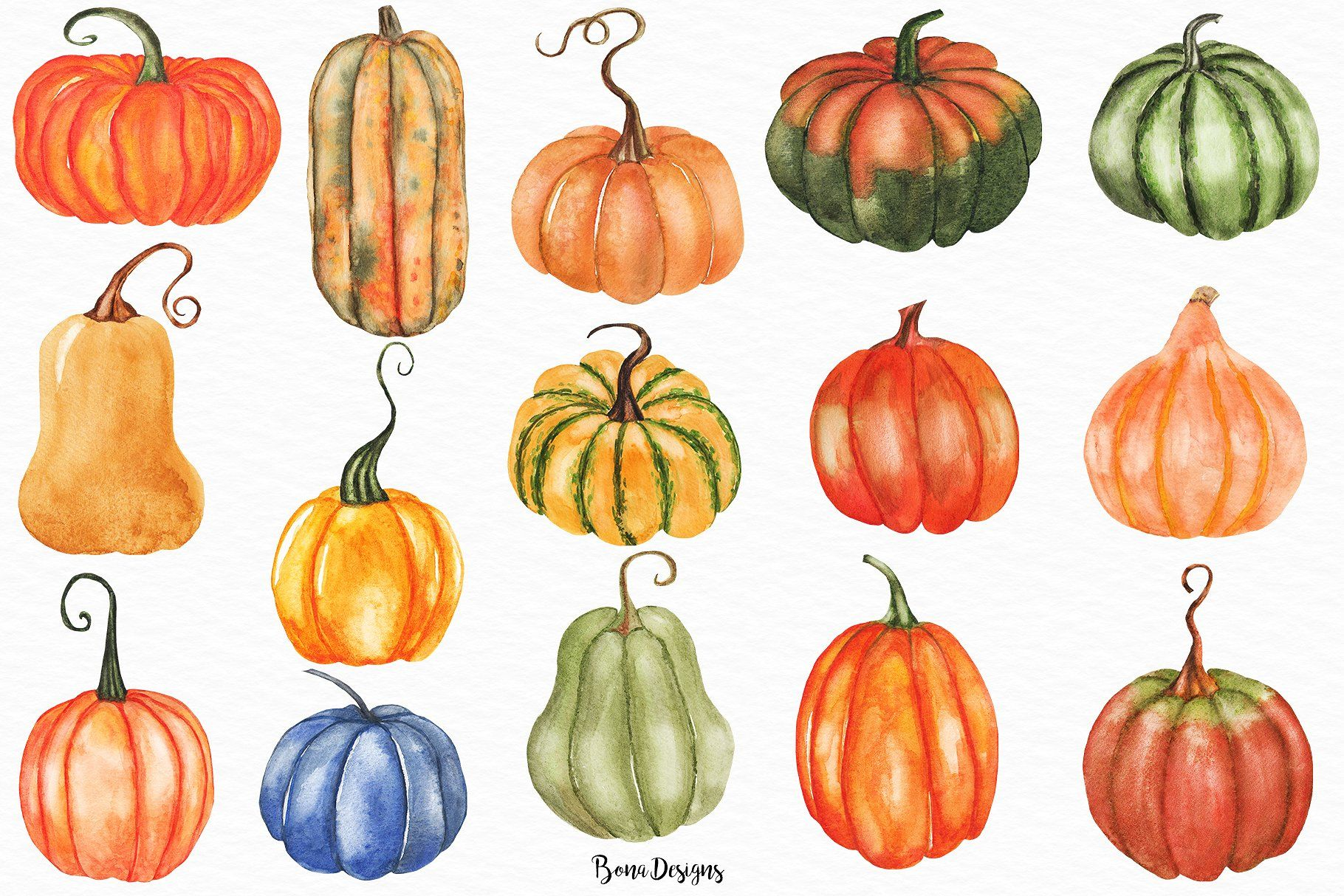 Watercolor Autumn Fall Illustration Autumn Illustration