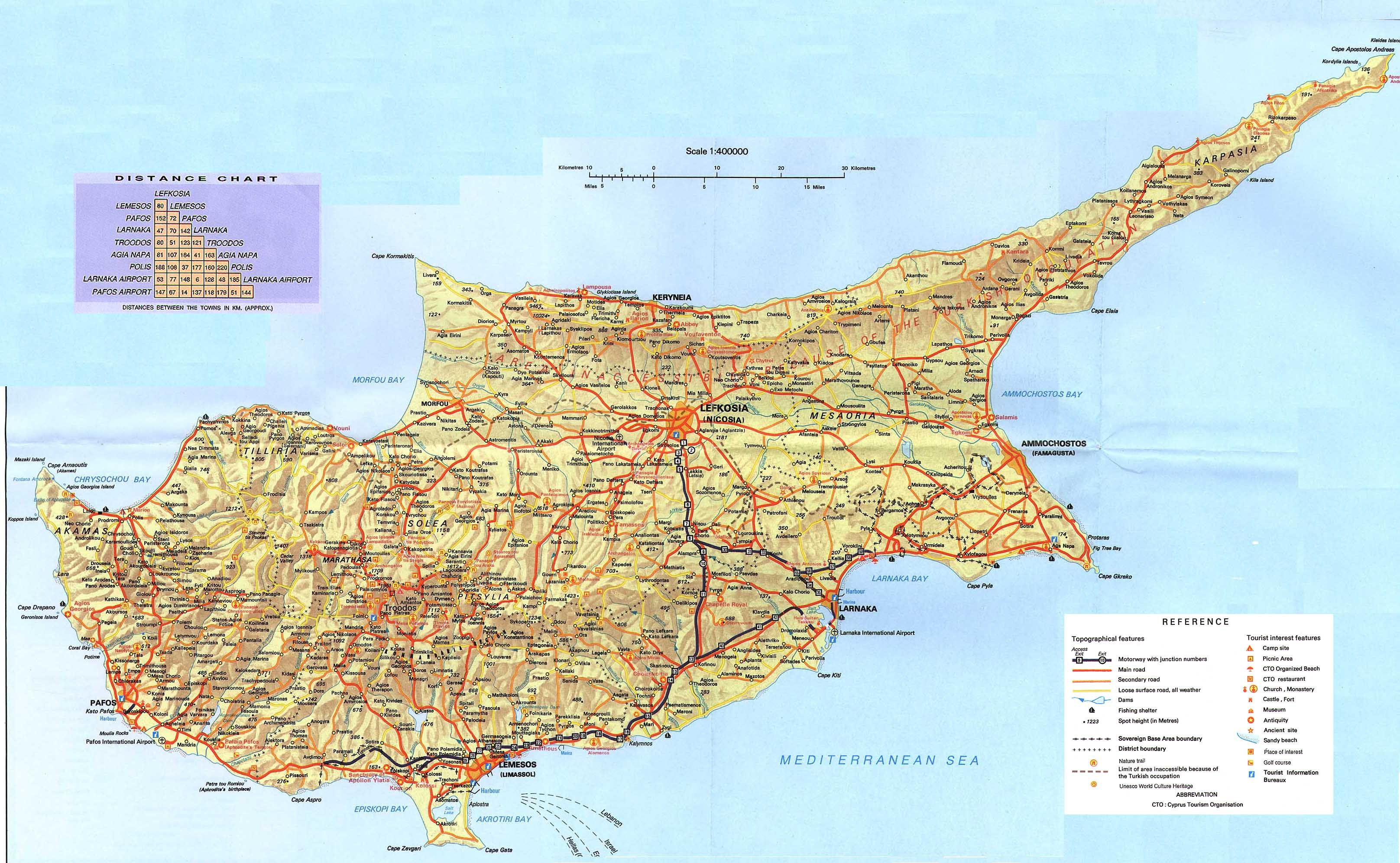 Cyprus chypre pinterest scale map cyprus and paphos large scale map of cyprus offered by astrofegia apartments ideal place to stay for your holidays in paphos cyprus gumiabroncs Images