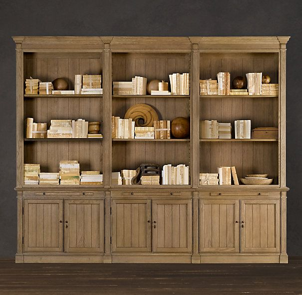Library Bookcase Wall Unit In Weathered Oak Finish Dearthdesign Austin Texas Luxury Home Builder Modelhomes W Bookcase Wall Unit Shelving Bookcase Wall