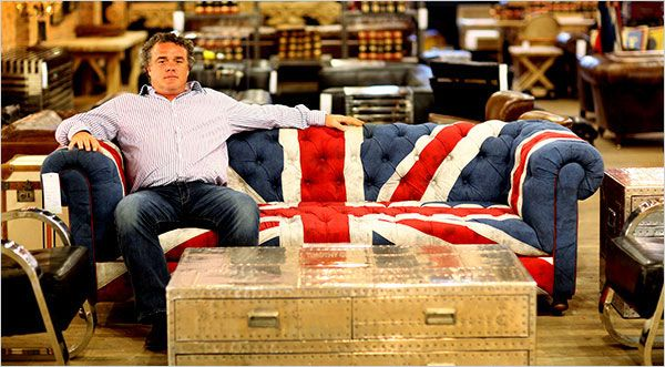 Timothy Oulton Chesterfield sofa in Union Jack. $2995. Yes, please.