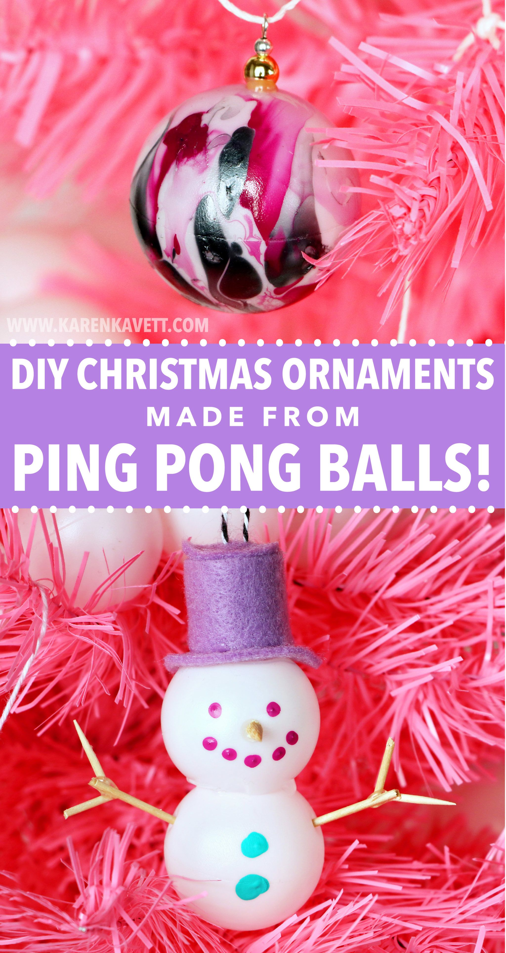 3 Christmas Decorations Made From Ping