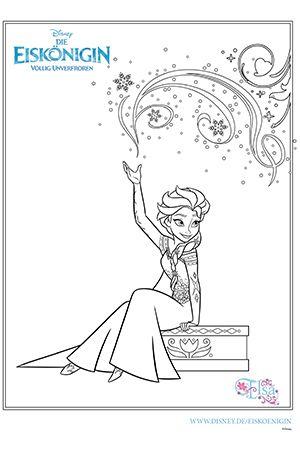Die Eiskönigin - Malvorlage Elsa Buku mewarnai Warna Buku