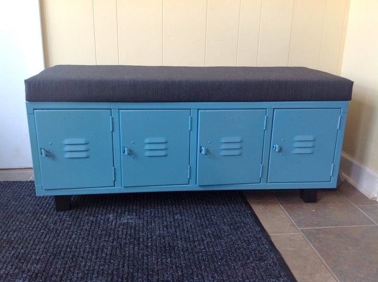Metal Locker Storage Bench Locker Bench Spray Painted
