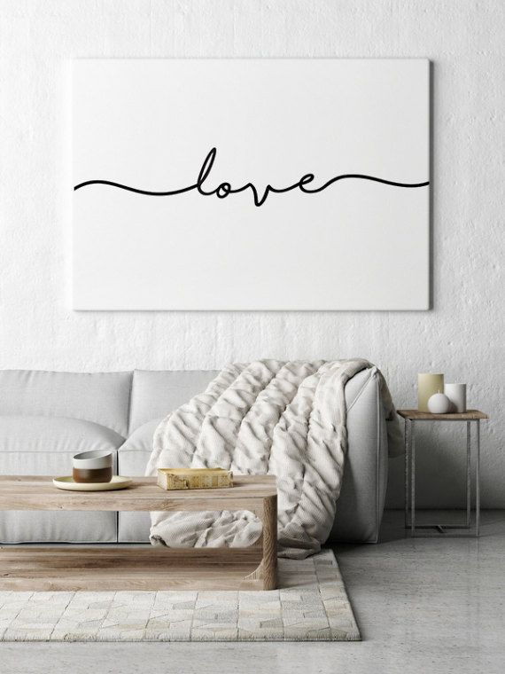 nursery wall prints downloadable prints love sign wall words