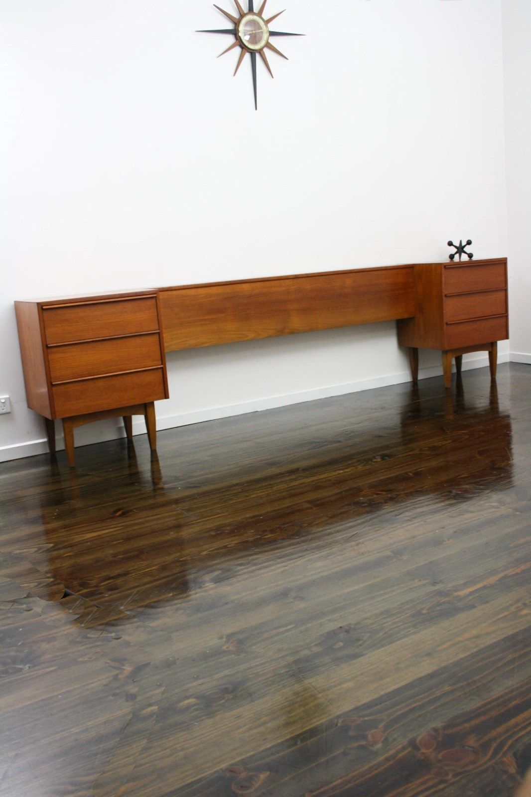 Mid century hans hayson bedside tables drawers qs bedhead retro vintage danish era vic ebay 360 modern furniture
