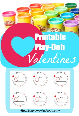 graphic relating to Play Dough Valentine Printable referred to as Perform Doh 36-Can Mega Pack for $17.97 Holiday vacation: Valentines