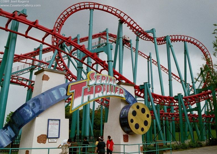 Serial Thriller Six Flags Astroworld Houston Texas Usa Astroworld Houston Six Flags Roller Coaster