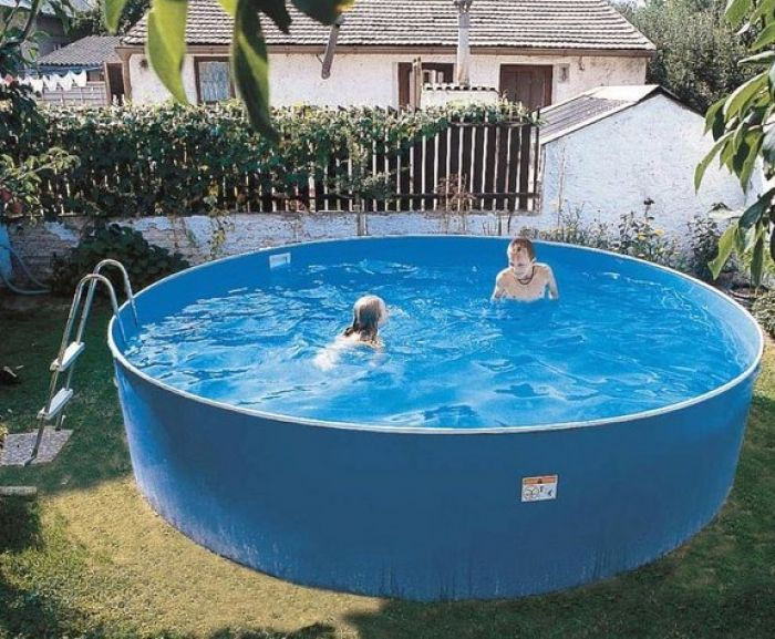 Blue splasher pool 15ft x 36 french garden in 2019 - Luxury above ground pools ...