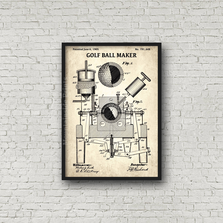 Golf ball maker patent print golf ball macker patent poster golf ball maker patent print golf ball macker patent poster blueprint art golf lover gift blueprint poster golf patent art malvernweather Choice Image