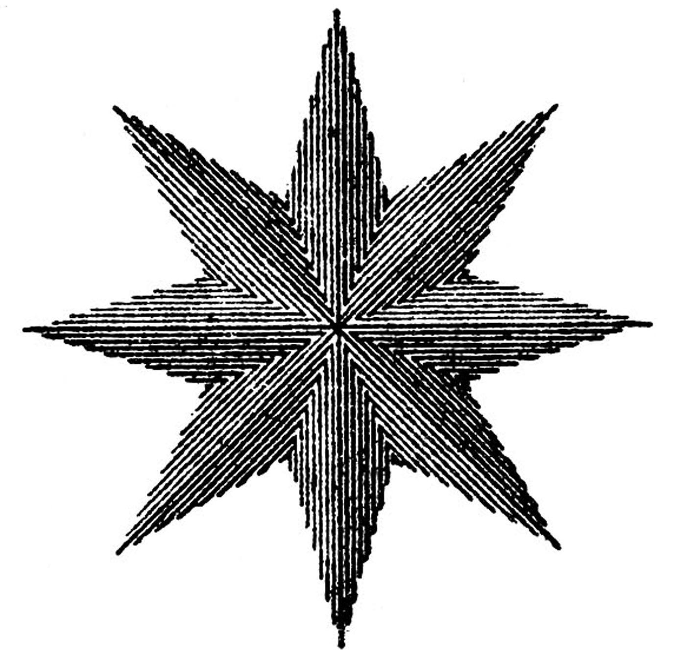 Vintage Steampunk Clip Art Compass Rose Star Compass