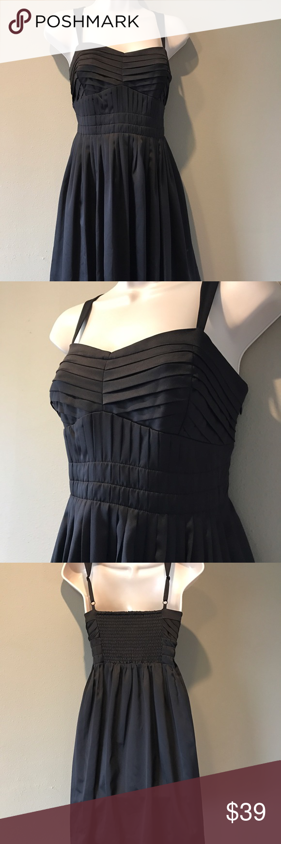 BCBGeneration BLACK dress, size 12 In excellent preowned condition, BCBGeneration, above the knee black dress.   Fully lined, size is 12. BCBGeneration Dresses