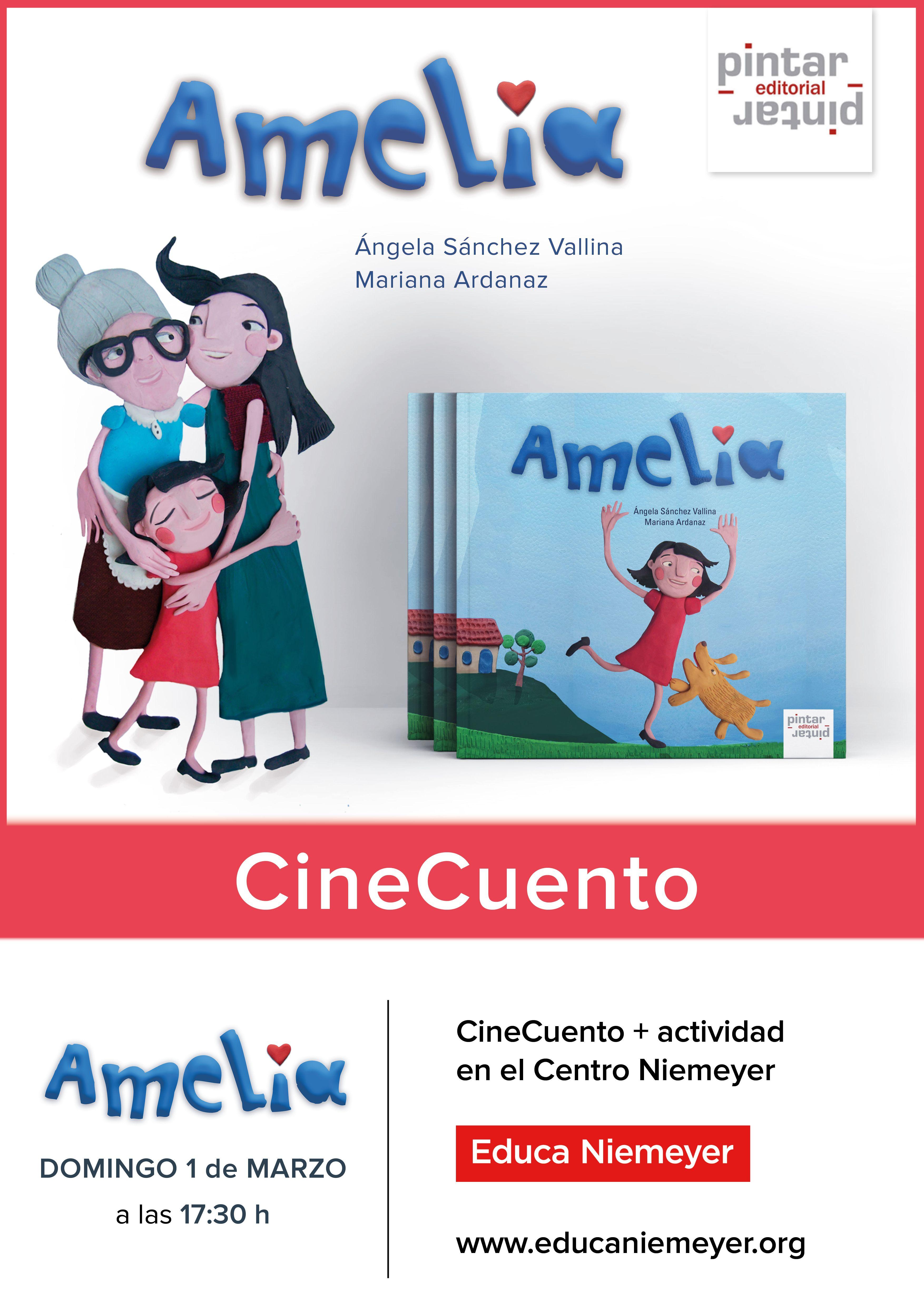 """CineCuentos """"Amelia"""" - Animación Lectora -  ¿En qué consiste un CineCuento Pintar-Pintar? En la proyección y lectura de las versiones digitales interactivas de nuestros títulos: las ilustraciones de nuestros libros en movimiento junto a la palabra en directo ¡todo un espectáculo divertido e interactivo!"""