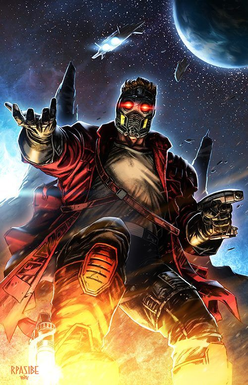 Star-Lord by Ryan Pasibe, colours by Tots Valeza *